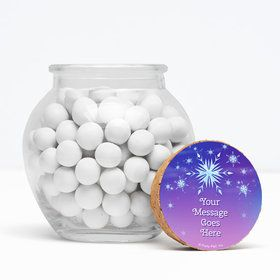 "Ice Princess Personalized 3"" Glass Sphere Jars (Set of 12)"