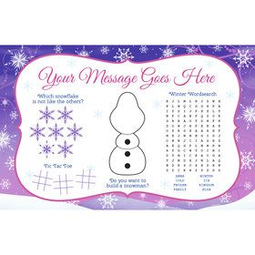 Ice Princess Personalized Activity Mat (8 Count)
