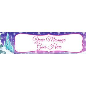 Ice Princess Personalized Banner (Each)