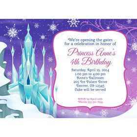 Ice Princess Personalized Invitation (Each)