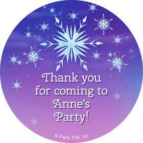 Ice Princess Personalized Mini Stickers (Sheet of 20)