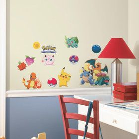 Iconic Pokemon Wall Decals (24 Pieces)