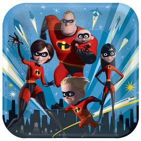 "Incredibles 2 9"" Plates (8)"