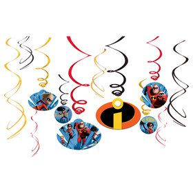 Incredibles 2 Swirl Decorations (12)