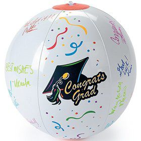 "Inflatable Autograph Graduation 11"" Beach Balls (3 Pack)"