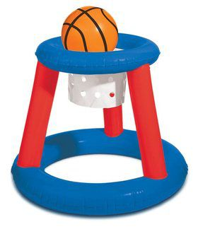 Inflatable Basketball Hoop and Ball (Each)