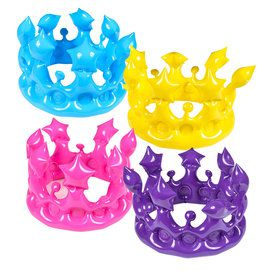 Inflatable Crown (12 Count)