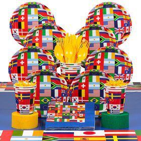 International Birthday Party Deluxe Tableware Kit Serves 8