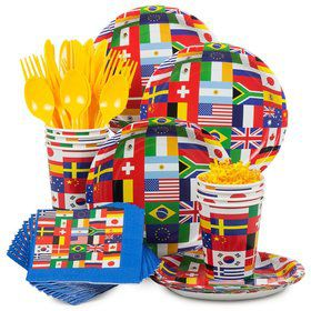 International Birthday Party Standard Tableware Kit Serves 8