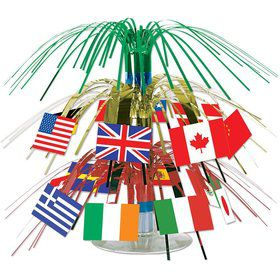 "International Flag 7 1/2"" Cascade Centerpiece (Each)"