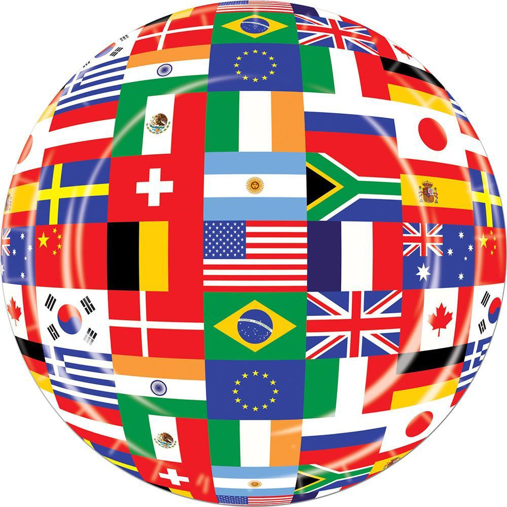International party 7 cake plates party supplies for International party decor