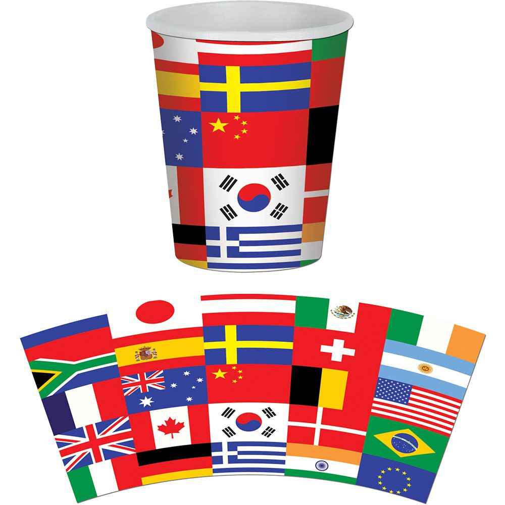 International Birthday Party Supplies 9Oz Hot/Cold Cups (8 Pack) BB58222