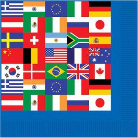 International Party Beverage Napkins (16 Pack)