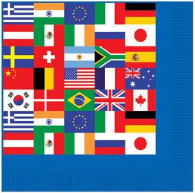 International Party Luncheon Napkins (16 Pack)