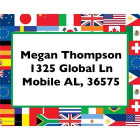 International Personalized Address Labels (Sheet of 15)