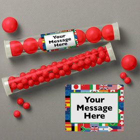 International Personalized Candy Tubes (12 Count)