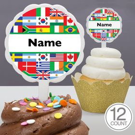 International Personalized Cupcake Picks (12 Count)