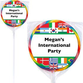 International Personalized Lollipops (12 Pack)