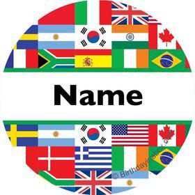 International Personalized Mini Stickers (Sheet of 20)