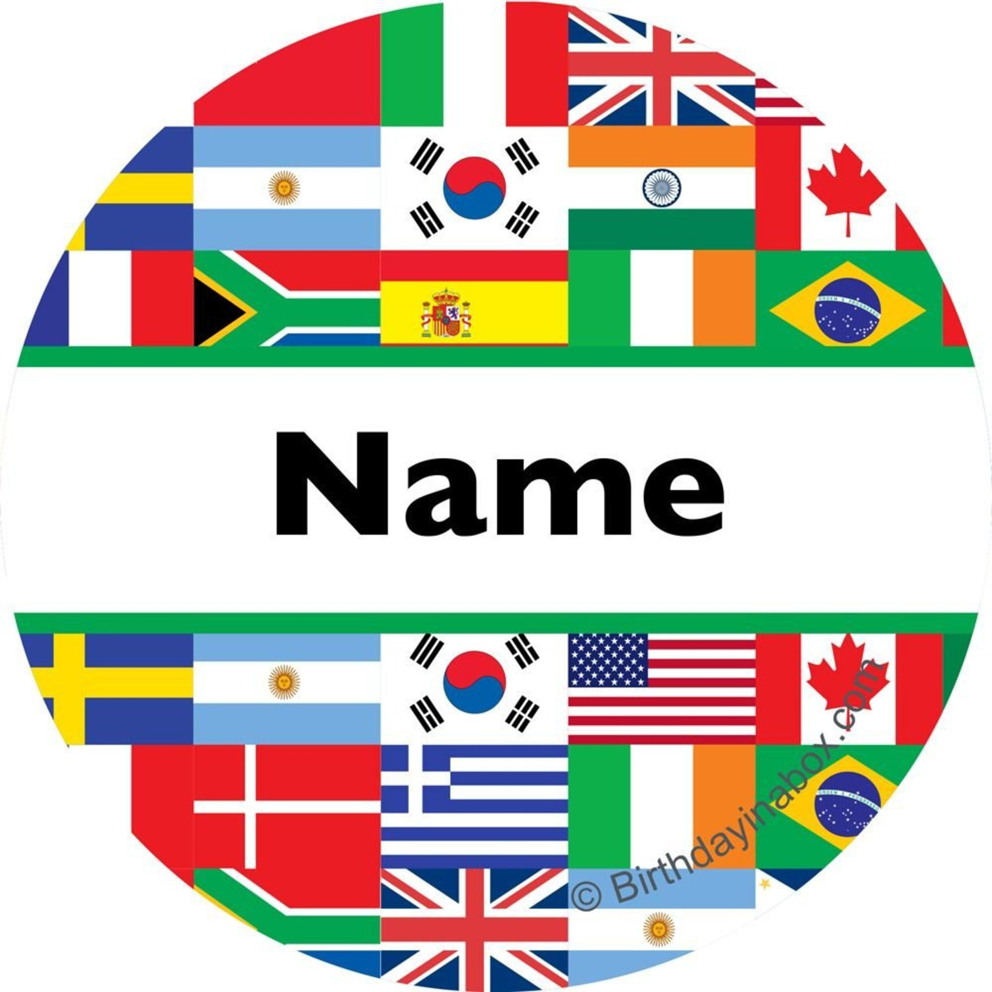 International personalized mini stickers party supplies for International party decor