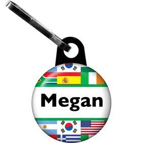 International Personalized Zipper Pull (Each)