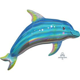 "Iridescent Blue Dolphin 29"" Balloon (1)"