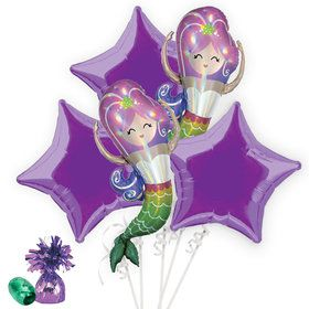 Iridescent Mermaid Balloon Bouquet Kit