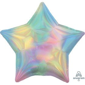 "Iridescent Pastel Rainbow Star 19"" Balloon (1)"