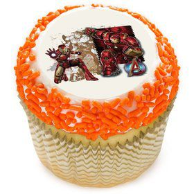 "Iron Man 2"" Edible Cupcake Topper (12 Images)"