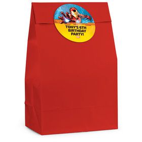 Iron Man Personalized Favor Bag (12 Pack)