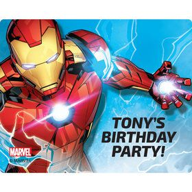 Iron Man Personalized Rectangular Stickers (Sheet of 15)