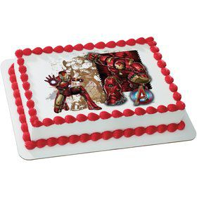 Iron Man Quarter Sheet Edible Cake Topper (Each)