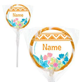 "Island Princess Personalized 2"" Lollipops (20 Pack)"