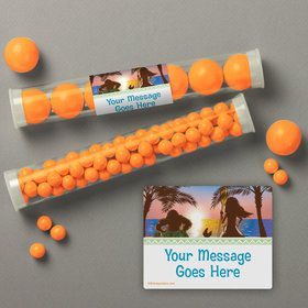 Island Princess Personalized Candy Tubes (12 Count)