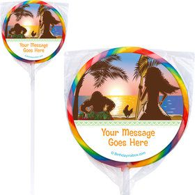 Island Princess Personalized Lollipops (12 Pack)