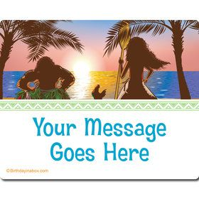 Island Princess Personalized Rectangular Stickers (Sheet of 15)