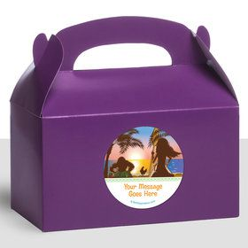 Island Princess Personalized Treat Favor Boxes (12 Count)