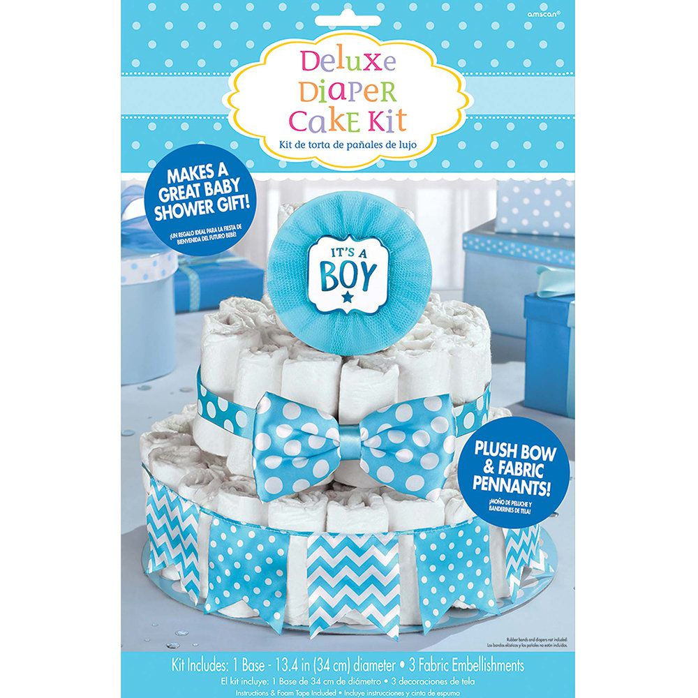 It S A Boy Blue Baby Shower Diaper Cake Decorating Kit General