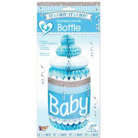 It's A Boy Honeycomb Baby Bottle