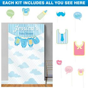 It's a Boy Personalized Photo Backdrop Kit