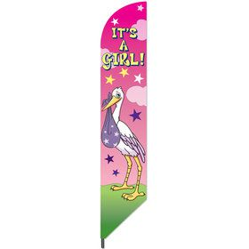 It's a Girl 7' Baby Announcement Banner