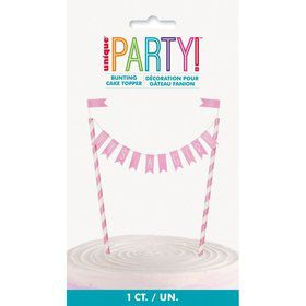 """It's a Girl"" Baby Shower Bunting Cake Topper"
