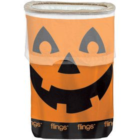 Jack-O-Lantern Pop-Up Trash Bin (Each)