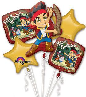 Jake and Neverland Pirates Balloon Bouquet (Each)