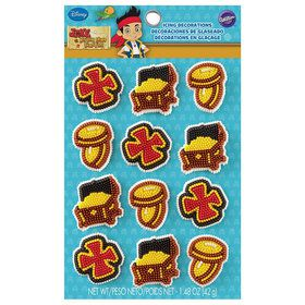 Jake and Neverland Pirates Icing Decorations (12 Pack)