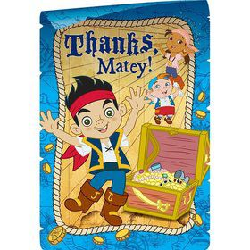 Jake and Neverland Pirates Postcard Thank You Cards (8 Pack)