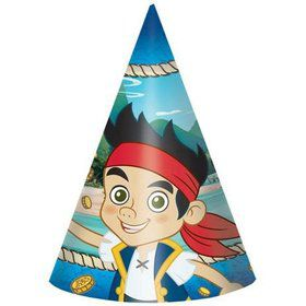 "Jake and the Neverland Pirates 6"" Party Hats (8 Pack)"