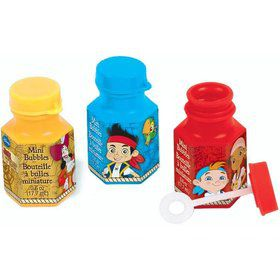 Jake and the Neverland Pirates .6oz Mini Bubble Favors (12 Pack)