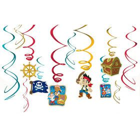 Jake and the Neverland Pirates Foil Hanging Swirl Decorations (6 Piece)