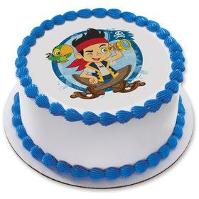 "Jake & the Never Land Pirates 7.5"" Round Edible Cake Topper (Each)"
